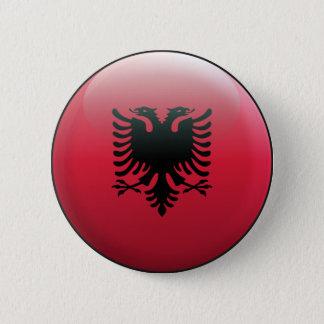 Flag of Albania 6 Cm Round Badge