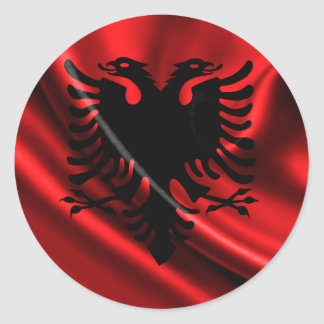Flag of Albania, Albanian Flag Round Sticker