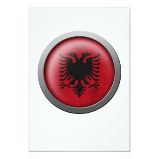 Flag of Albania Disc 9 Cm X 13 Cm Invitation Card