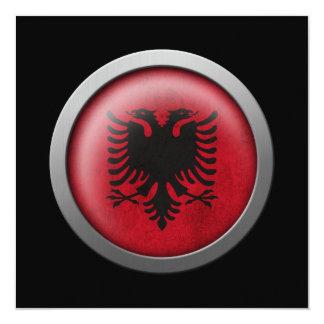 Flag of Albania Disc 13 Cm X 13 Cm Square Invitation Card