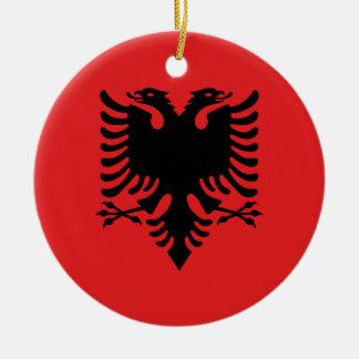 Flag of Albania - Flamuri i Shqipërisë Christmas Ornament