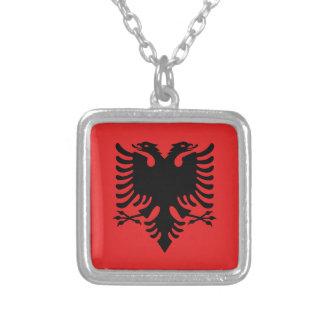 Flag of Albania - Flamuri i Shqipërisë Silver Plated Necklace