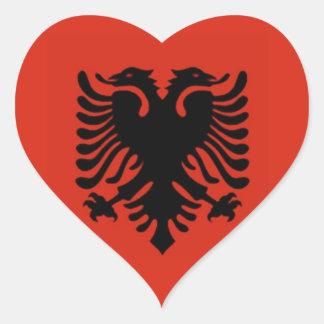 Flag of Albania Heart Sticker