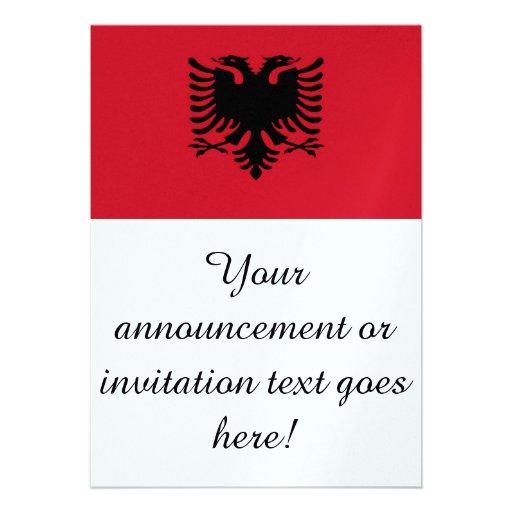 Flag of Albania Personalized Invitation