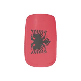 Flag of Albania Minx Nail Art