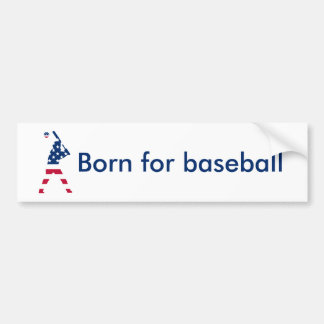 Flag of America Baseball American Bumper Sticker