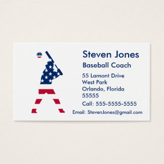 Flag of America Baseball American Business Card