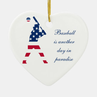 Flag of America Baseball American Christmas Ornament