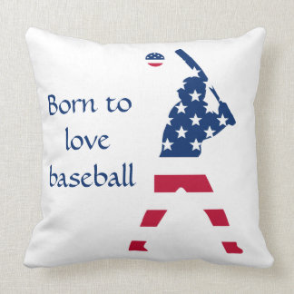 Flag of America Baseball American Cushion