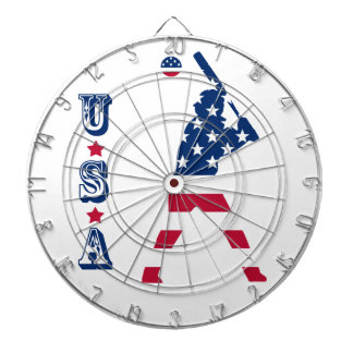 Flag of America Baseball American Dartboard