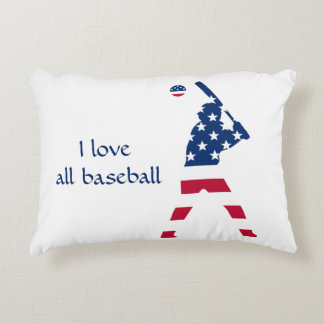 Flag of America Baseball American Decorative Cushion