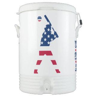 Flag of America Baseball American Drinks Cooler