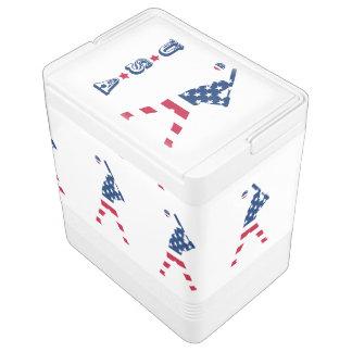 Flag of America Baseball American Igloo Cool Box