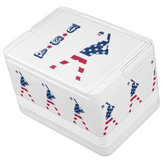 Flag of America Baseball American Igloo Cooler