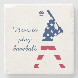 Flag of America Baseball American Stone Coaster