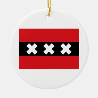 Flag of Amsterdam Christmas Ornament