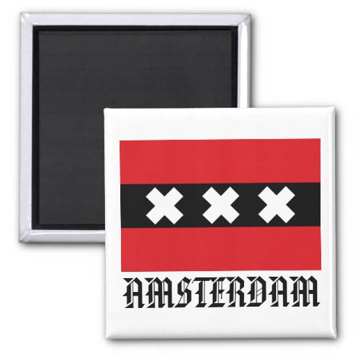 Flag of Amsterdam Refrigerator Magnets