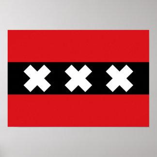Flag of Amsterdam Poster