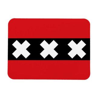 Flag of Amsterdam Rectangular Photo Magnet
