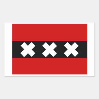 Flag of Amsterdam Rectangular Sticker