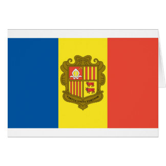 Flag of Andorra Card