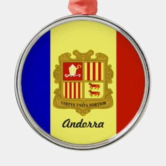 Flag of Andorra Christmas Ornament