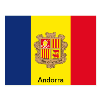 Flag of Andorra Postcard