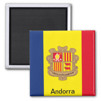 Flag of Andorra Square Magnet