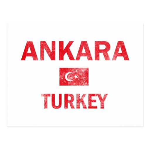 Flag of Ankara Turkey designs Post Cards