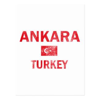 Flag of Ankara Turkey designs Postcard