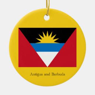 Flag of Antigua and Barbuda Christmas Ornament