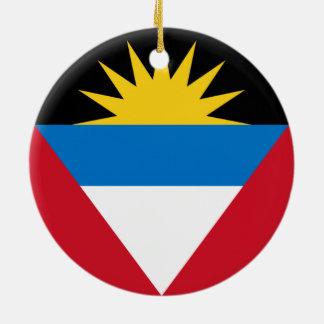 Flag of Antigua and Barbuda Round Ceramic Decoration