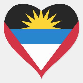 Flag of Antigua and Barbuda Heart Sticker