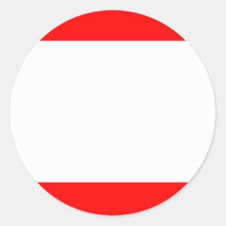 Flag of Antwerp Classic Round Sticker