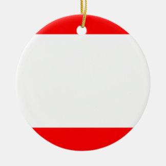 Flag of Antwerp Round Ceramic Decoration