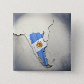 Flag of Argentina 15 Cm Square Badge