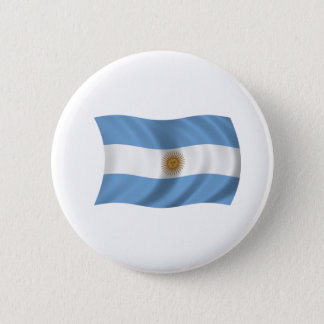 Flag of Argentina 6 Cm Round Badge