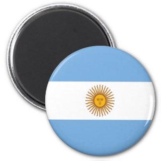 Flag of Argentina 6 Cm Round Magnet