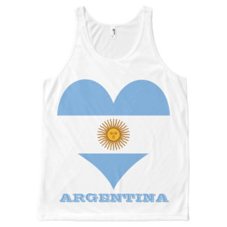 Flag of Argentina All-Over Print Tank Top