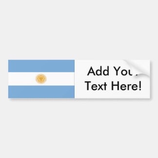 Flag of Argentina Bumper Sticker