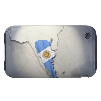 Flag of Argentina Tough iPhone 3 Covers