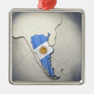 Flag of Argentina Christmas Ornament