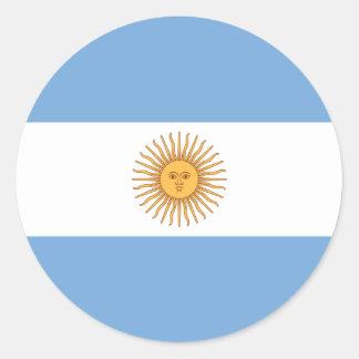 Flag of Argentina Classic Round Sticker