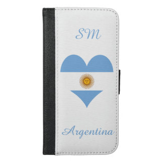 Flag of Argentina iPhone 6/6s Plus Wallet Case