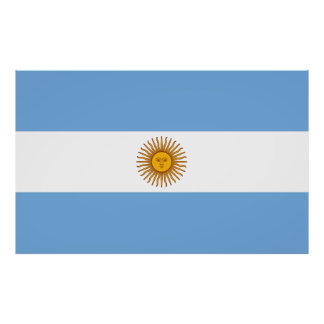 Flag of Argentina large Poster