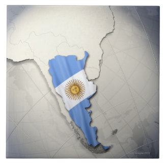 Flag of Argentina Large Square Tile