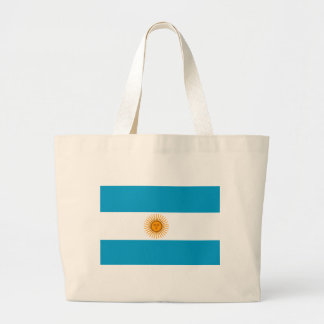 Flag of Argentina Large Tote Bag
