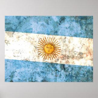 Flag of Argentina Poster