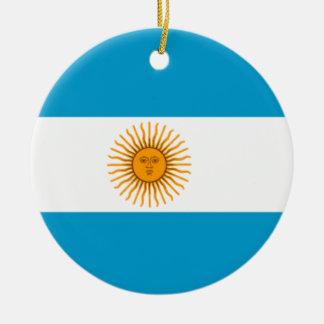 Flag of Argentina Round Ceramic Decoration