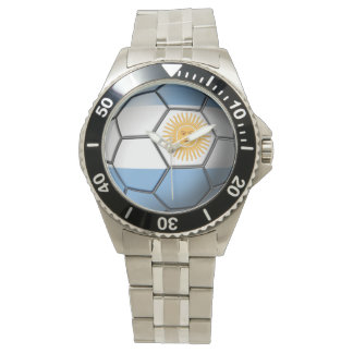 Flag of Argentina Soccer Ball Watch